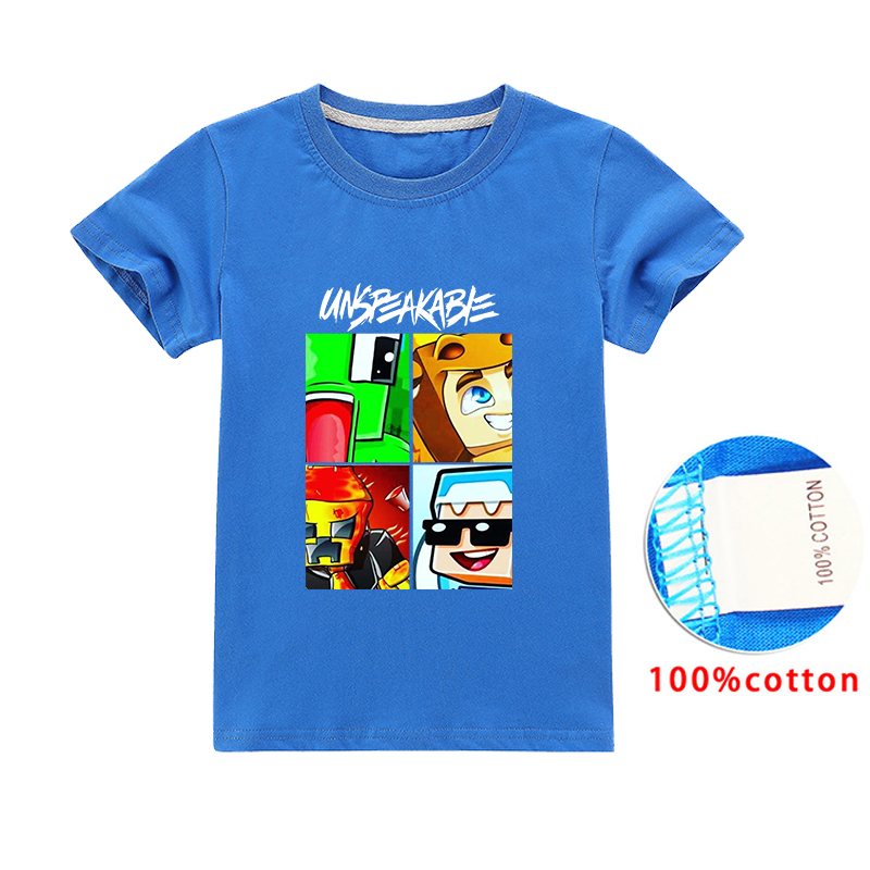 2020 Summer Boys UNSPEAKABLE T Shirt Children's T-shirt Short Sleeve Tops Tees Children T-shirts For Girls Kids Clothes Clothing