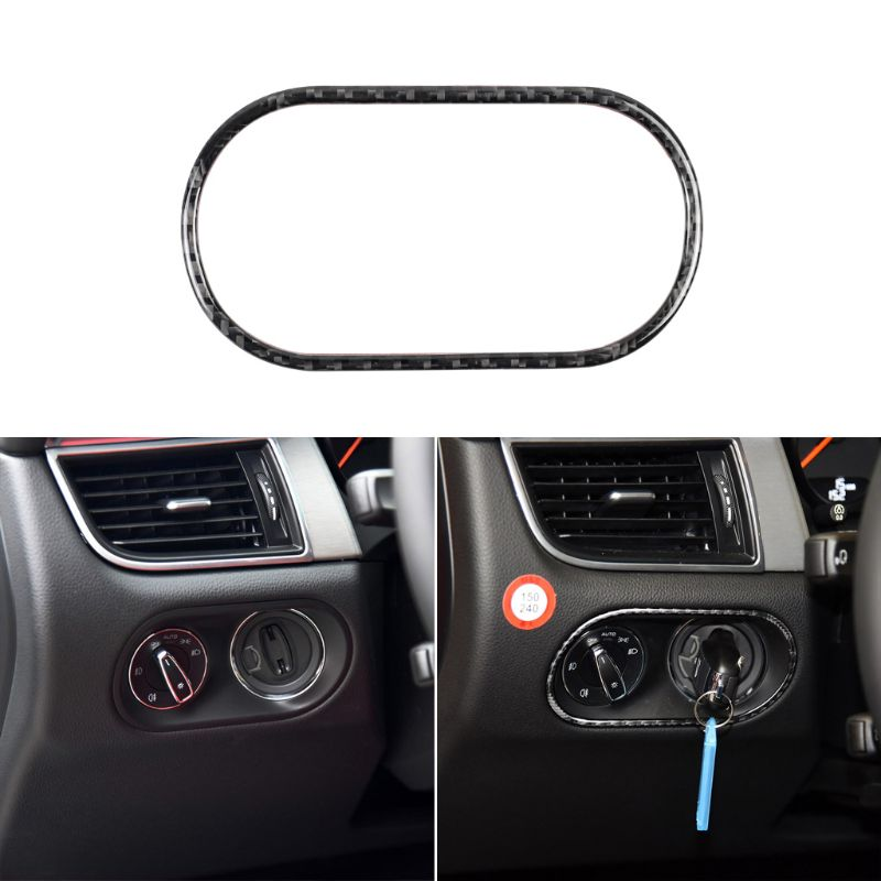 For Porsche Macan 2015 2016 Carbon Fiber Car Head Light Lamp Switch Button Cover Trim Sticker|Automotive Interior Stickers| |  - title=