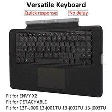 35.5 x 21.7cm For HP Envy X2 13 J 13 T Keyboard Backlit 796693-001 777239-001 Front Black Rear Gray Keyboard