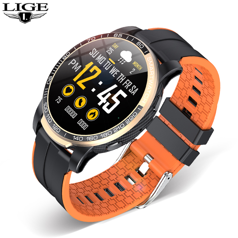 LIGE Phone Smart Watch Men Bluetooth Call Waterproof Sports Fitness Watch Health Tracker Weather play music smartwatch Women