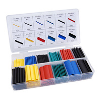 328pcs Heat Shrink Tube Assorted Insulation Shrinkable Tube 2:1 Wire Cable Sleeve Kit EIG88