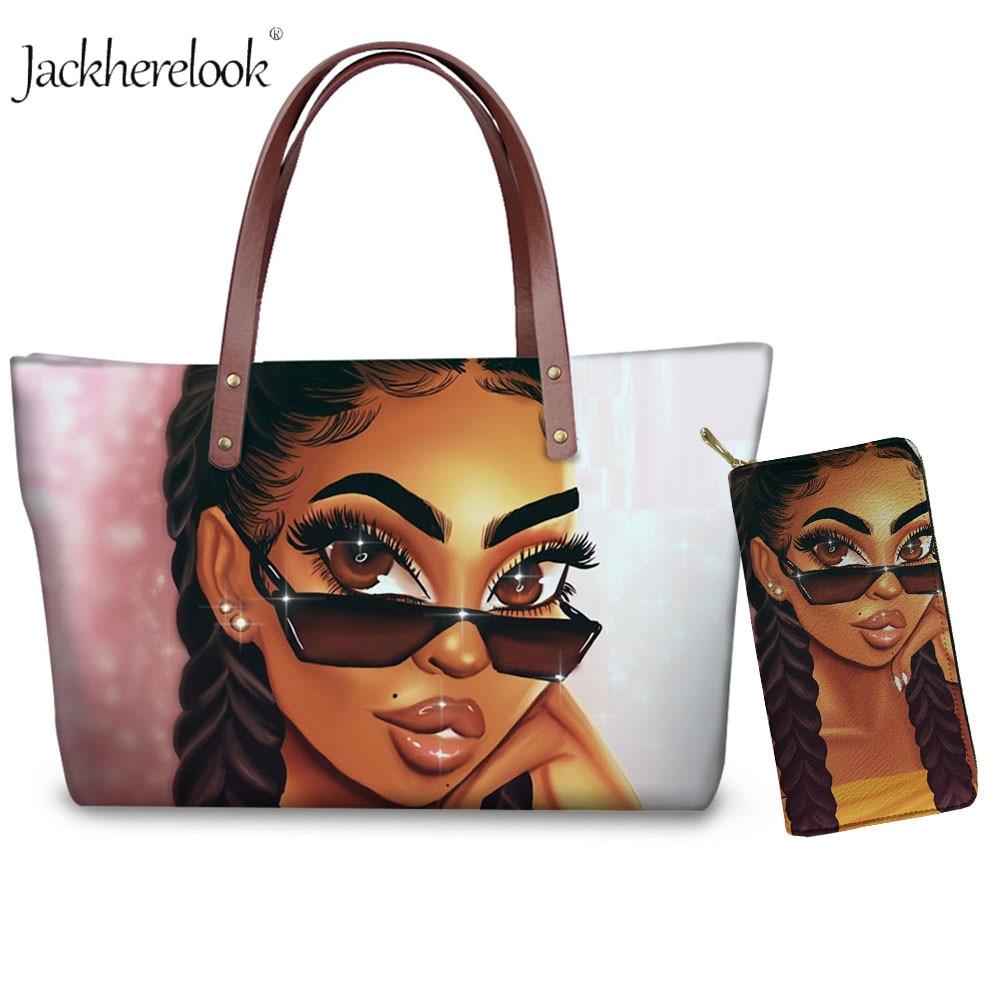Sacs à main composites pour femmes, imprimé Art africain et américain pour filles noires, sac à bandoulière, porte-monnaie et téléphone, 2 pièces/ensemble