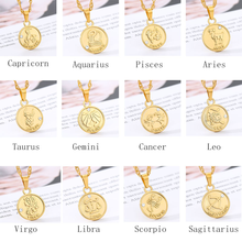Ожерелье с 12 созвездиями из циркония ожерелья монетами новинка
