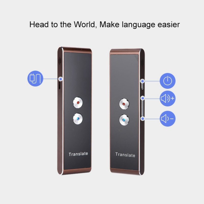 Portable Smart Voice Speech Translator Two-Way Real Time Multi-Language Translation For Learning Travelling Business Meeting image