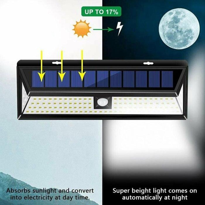 de segurança sensor movimento luz parede para jardim ao ar livre dnj998