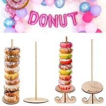 Ahşap Donut standı parti dekorasyonu Donut tutucu gelin düğün parti süs dekor malzemeleri