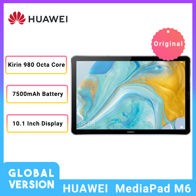 "Global Version HUAWEI Tablet MediaPad M6 10.8"" Kirin 980 Octa Core Android 9.0 Type-C 7500mAh 2560x1600 Fingerprint IPS Screen"