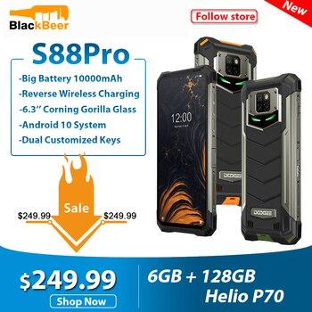 Перейти на Алиэкспресс и купить DOOGEE S88 Pro 6,3 дюйма прочный мобильный телефон IP68/IP69K смартфон Helio P70 Octa Core 6 ГБ 128 ГБ ROM мобильный телефон Android 10,0 10000 мАч