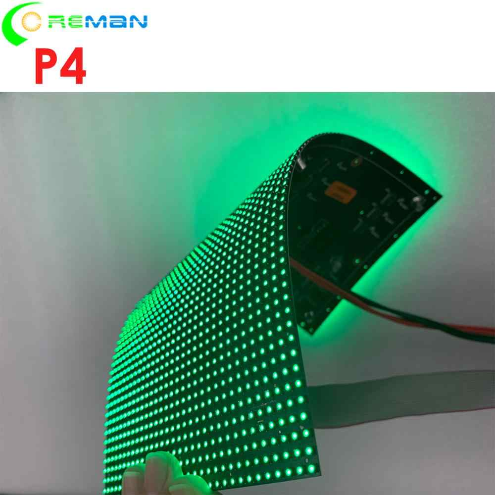 Niedrigen kosten P4 diy form led-anzeige, flexible faltbare weiche led display panel für indoo rdecoration dj nacht club shopping mall