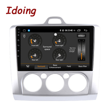 Idoing Radio Multimedia con GPS para coche, Radio con reproductor, Android, pantalla de 9 pulgadas, 4 GB + 64 GB, ocho núcleos, para Focus 2, 3, Mk2, Mk3, 2004 2012, IPS, 2.5D, navegador, módem 4G