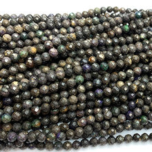Veemake Black Opal DIY Natural Necklace Bracelets Earrings Ring Faceted Small Round Women's Beads For Jewelry Making 06764