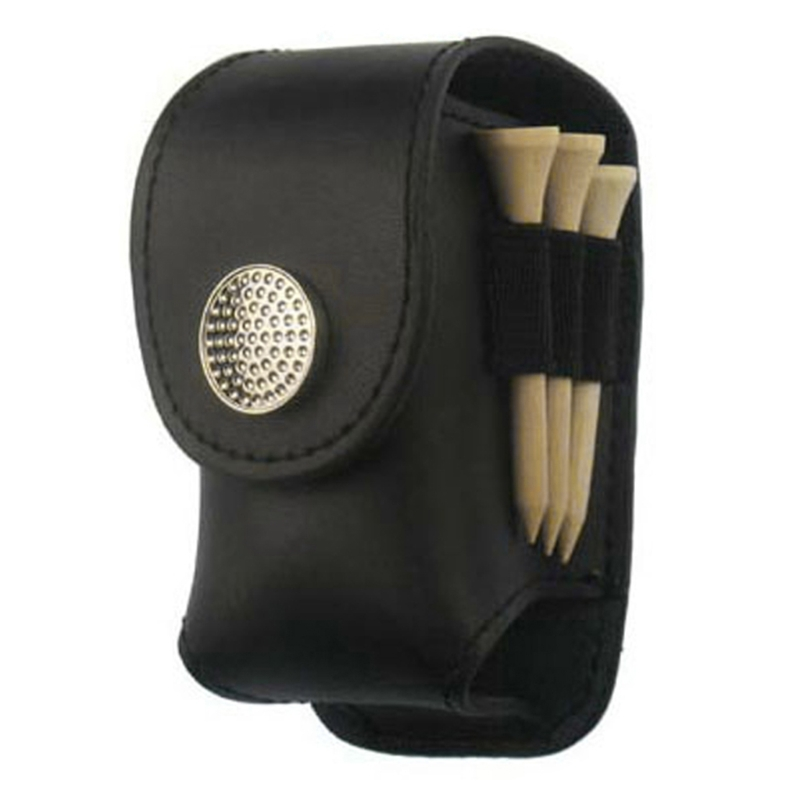 Portable Leather Mini Golf Ball Bag Pouch Holder Waist Pack Pocket Outdoor Tool