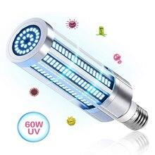 60W UV קוטל חידקים מנורת E27 Uvc סגול אור תירס הנורה מנורת חיטוי עיקור LED אורות בית נקי אוויר להרוג קרדית