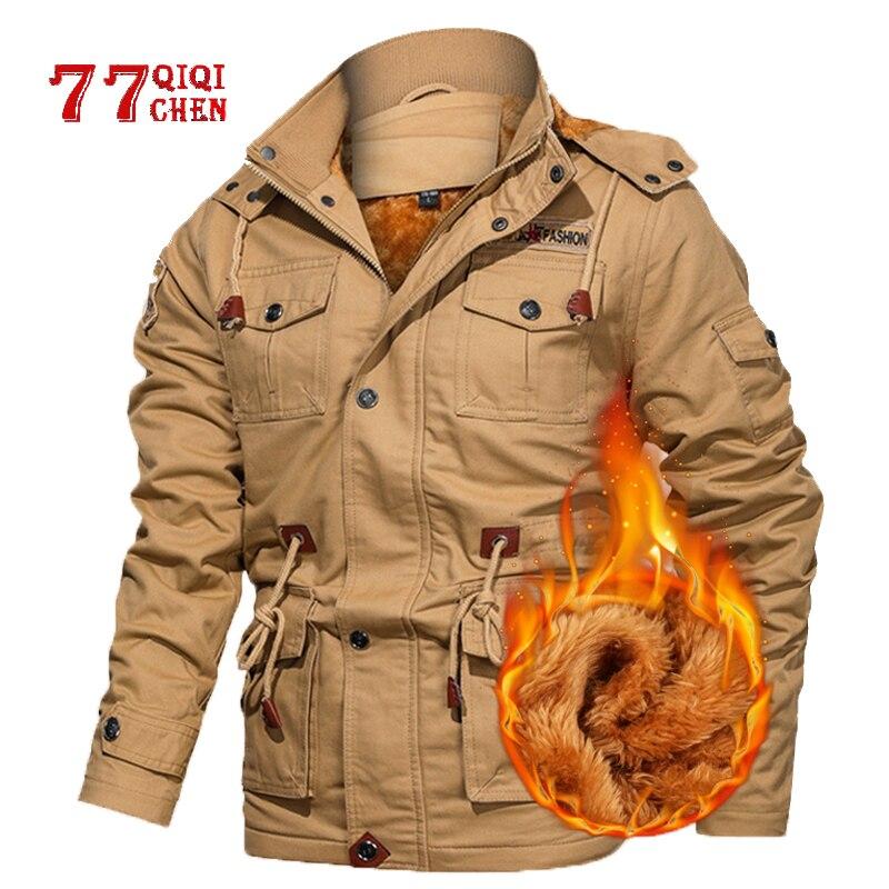 Casaco de lã de inverno masculino casacos grossos quentes casuais parkas jaquetas militares masculino casaco com capuz 5xl