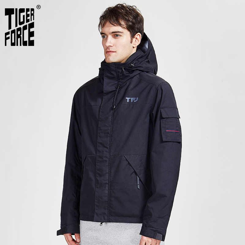 TIGER KRAFT 2020 neue arriva frühling herbst sport jacke mit kapuze casual männer jacken und mantel ein zipper warme Männer der Parka 50612