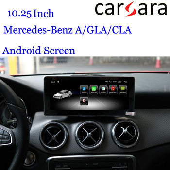 Android GLA CLA A Navigation for Merce des Ben z W176 W177 2013-2018 Dashboard Radio Display Replacement 10.25Tablet Navigator image