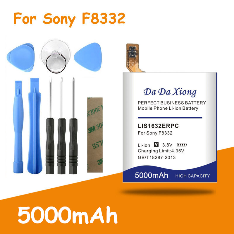 Free shipping 5000mAh LIS1632ERPC <font><b>Battery</b></font> for Sony <font><b>Xperia</b></font> <font><b>XZ</b></font> Dual Sim F8332 XZs F8331 Replacement <font><b>batteries</b></font> + free tools image