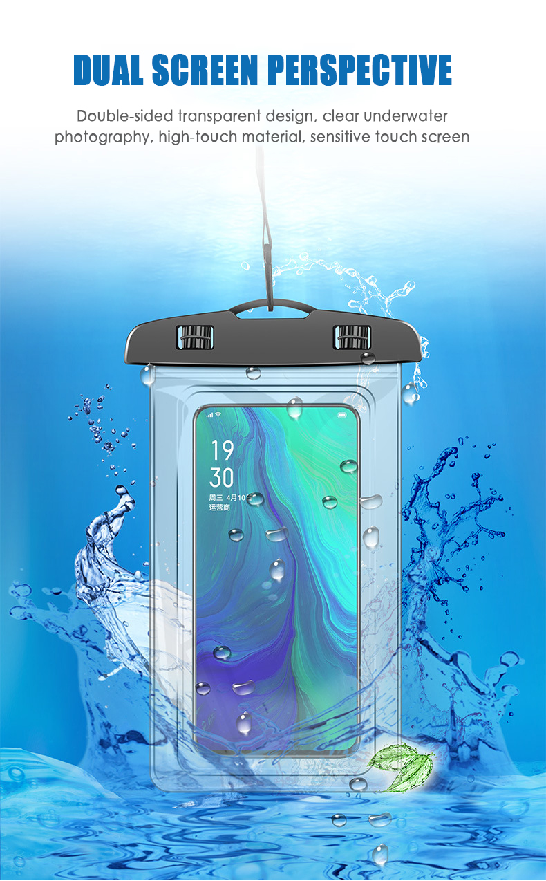 Drift Diving Swimming Bag Anti-Water Smartphone Pouch Underwater Dry Bag Cover For Phone Water Sports Beach Pool Skiing 7 Inch