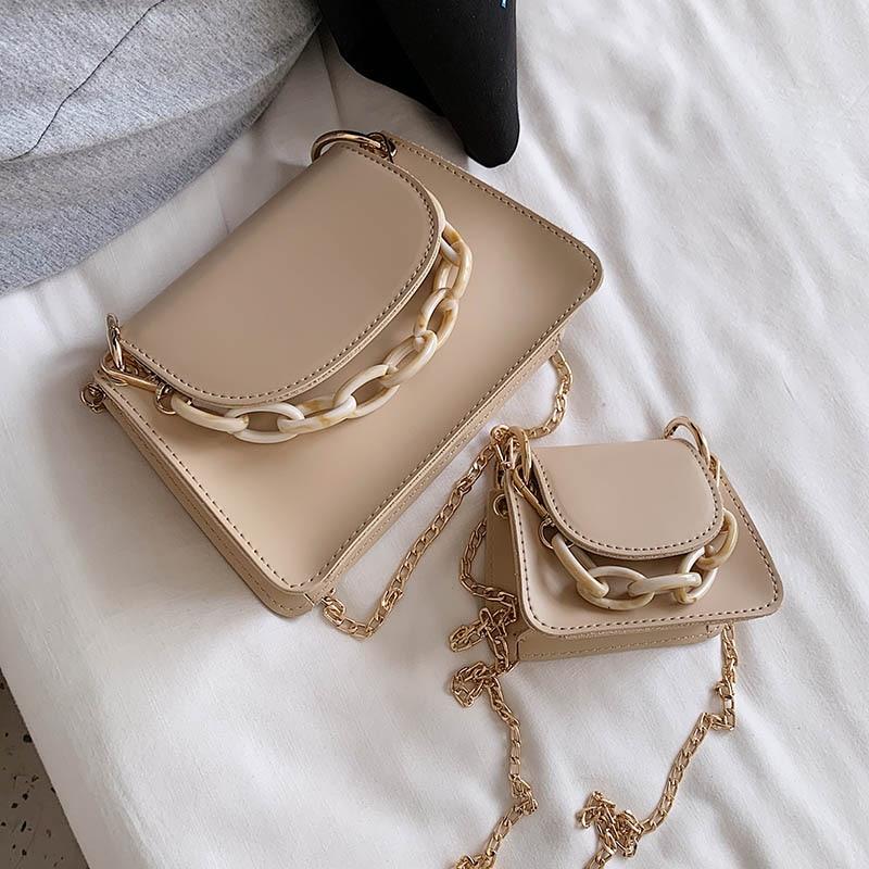 Mini PU Leather Shoulder Messenger Bags For Women 2020 Fashion Chain Design Shoulder Handbags Female Crossbody Bag