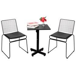 2 sztuk Nordic drutu w stylu jadalnia krzesło proste Hollow krzesło druciane rozrywka kreatywny Metal Coffee Lounge krzesło
