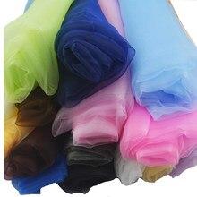 Organza tecido casamento arco de aniversário decoração diy costura casa toalha de mesa cortina cristal tule rolo organza pura gaze pano