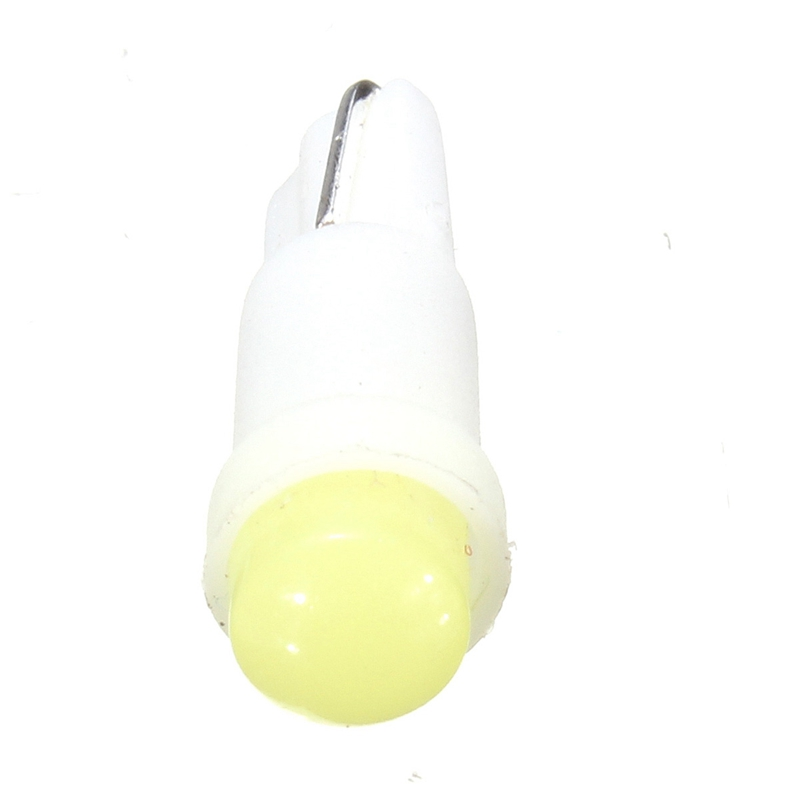 20pcs DC12V T5 B8.5D Led Ceramic Lamp Dashboard Gauge Instrument Wedge Base Side Light Bulb White Support Dropshipping