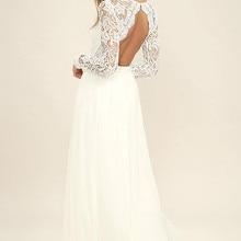 Spring Autumn Dress Women 2020 Elegant Long White Lace Dress