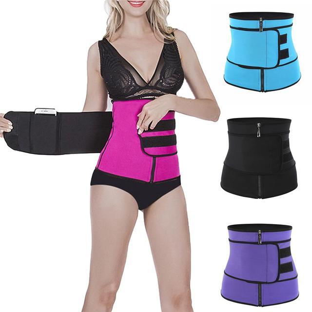 Women Slimming Waist Trainer Thermo Sweat Belt Tummy Control Body Shaper Belt Corset Shapewear Fat Burning Fitness Strap