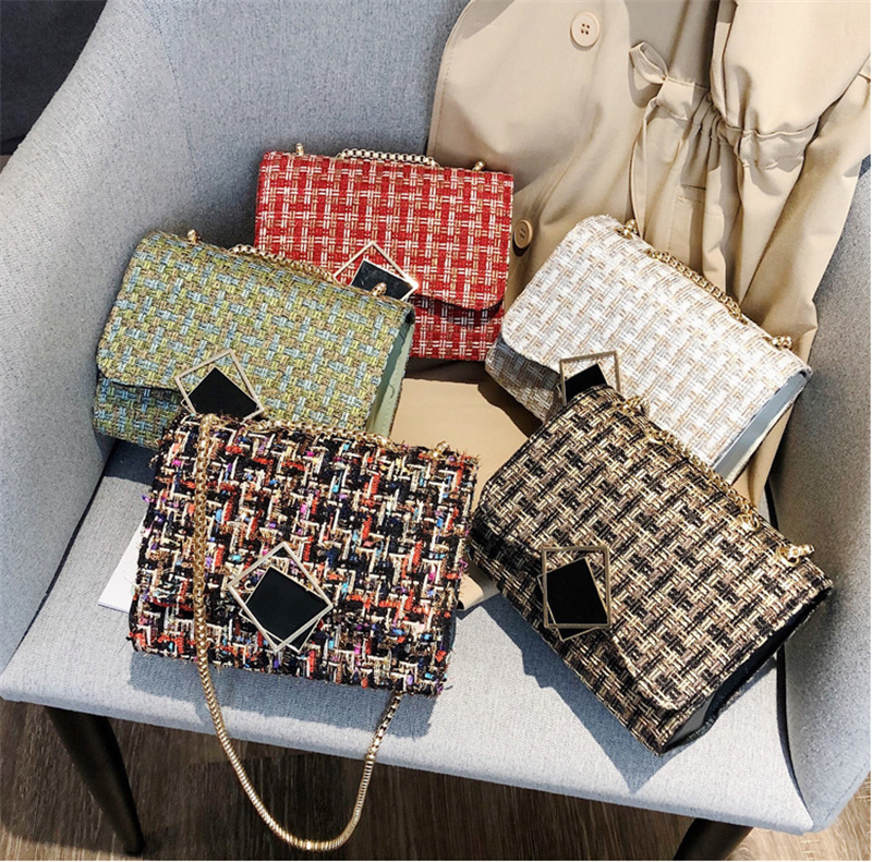 2019 New Women Plaid Shoulder Bag Women Ladies Crossbody Leather Shoulder Bag Tote Purse Handbag Messenger Satchel