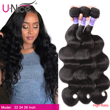 Unice Hair Kysiss hair 8A Body Wave Brazilian Hair Weave Bundles 100% Human Hair 1/3 /4 Piece 8 30inch Virgin Hair