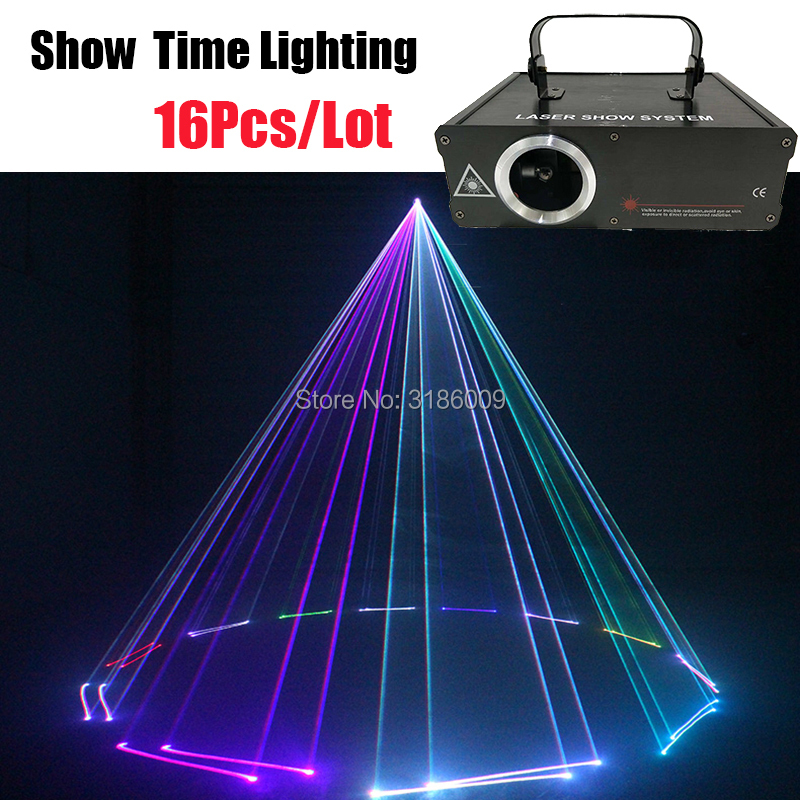 RGB Dj Laser With Many Effect As Animal Dance Beam Line Point Good Effect In Fog 16Pcs/Lot Good For Shipping KTV Patry Christmas