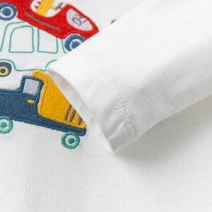 Image 5 - DBJ13529 1 デイブベラ少年プリント tシャツ幼児綿トップス子供春 tシャツプルオーバー長袖服