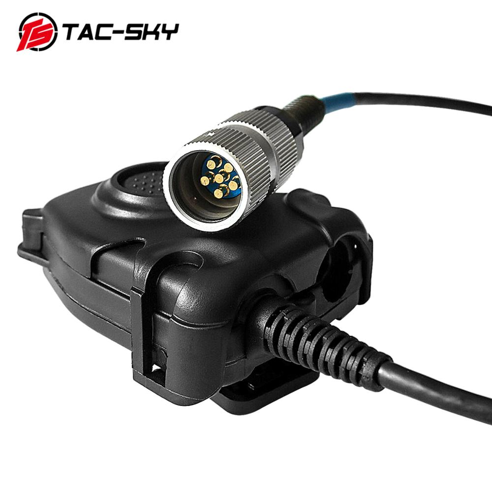 TAC-SKY AN/PRC-152 152a PRC-148military Tactical Headset Walkie-talkie Simulation Model Intercom Accessories PTT 6pin PELTOR PTT