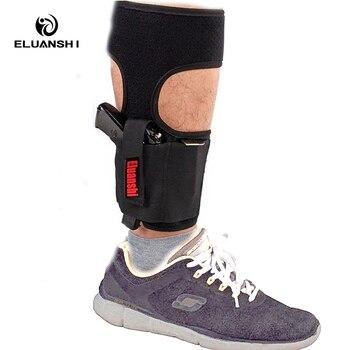 Concealed Carry Ankle Leg Holster For Glock 17 19 22 23 Ruger Lcp Sig 9mm Gun Pistol Tactical Pouch Black Color ELUANSHI 1