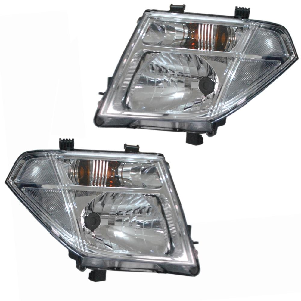 1 Pair Headlight For NISSAN PATHFINDER NAVARA D40 Front Head Light 2005 2006 2007 2008 2009 2010