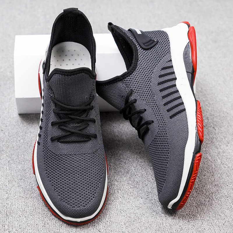 Koşu ayakkabıları erkekler Sneakers yaz eğitmenler Zapatillas Deportivas Hombre nefes alan günlük ayakkabılar Sapato Masculino Krasovki