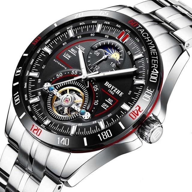 Genuine watch men's mechanical watch fully automatic hollow tourbillon luminous waterproof 2019 new web celebrity watch sport watch   Fotoflaco.net