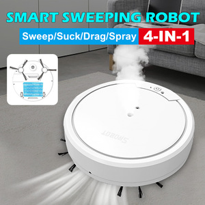 4-IN-1 Household Automatic Sweeping Robot Vacuum Spray Sweeping Disinfection Humidification Rechargeable Dry Wet Vacuum Cleaner