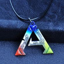 Moda colorida arca sobrevivência evoluiu uma letra liga de zinco pingente colar jogo quente um logotipo 45cm corda gargantilha colar jóias novo
