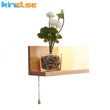 Headboard-Lamp Socket Storage-Rack Bedside Modern Wall-Lights Bed-Room Led Nordic-Style