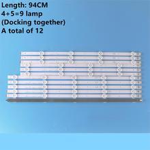 (Nuovo Originale) Kit 12 Pcs Striscia di Retroilluminazione a Led per LG 47LN 47LA620S 47LN5400 6916L 1174A 6916L 1175A 6916L 1176A 6916L 1177A