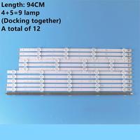 (Original novo) kit 12 pces led backlight strip para lg 47ln 47la620s 47ln5400 6916l 1174a 6916l 1175a 6916l 1176a 6916l 1177a|Peças e Computadores Industriais| |  -