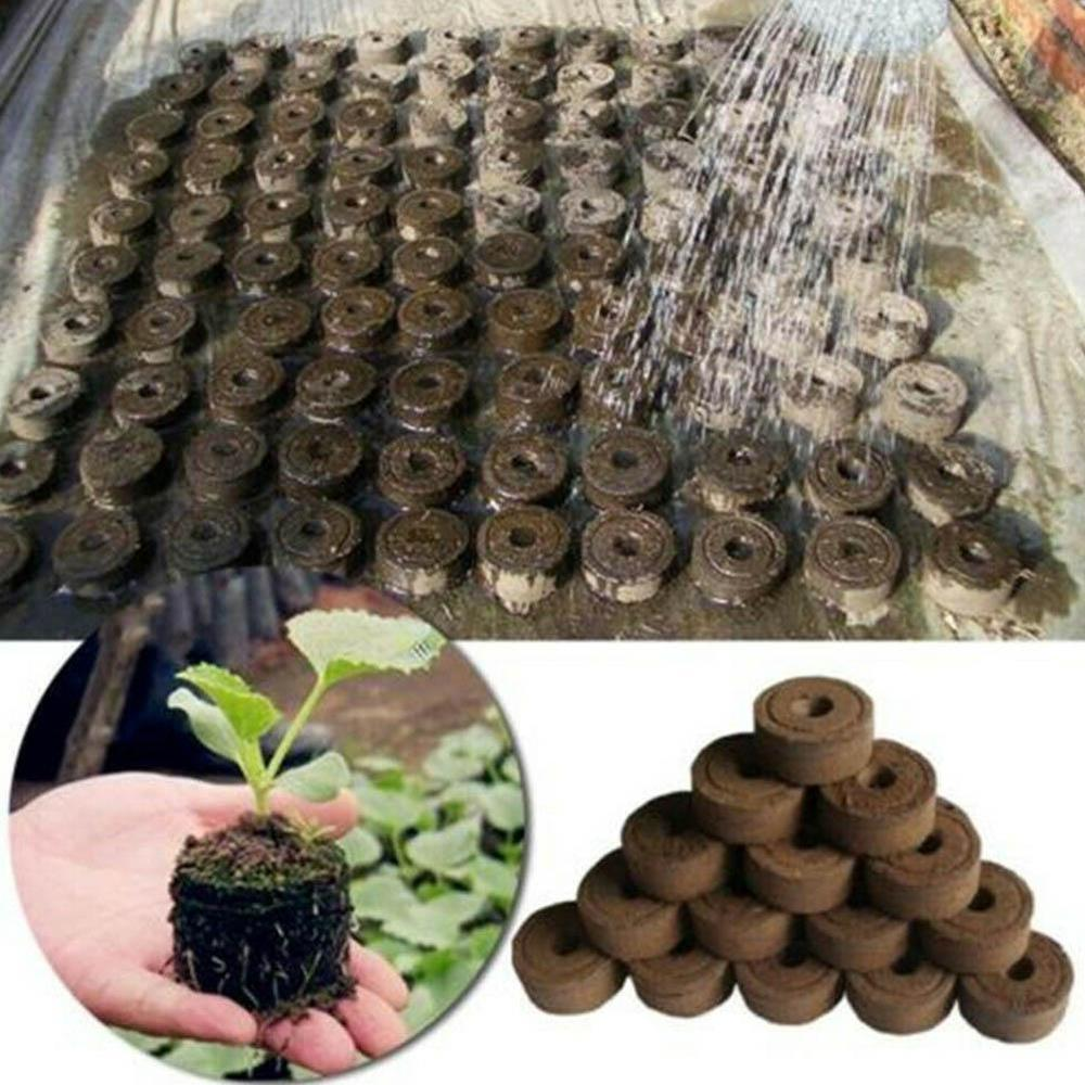 Garden Supplies Potted Plant Seed Gardening Tool Nursery Pot Nutritional Compressed Block Soil Peat Pellet Supply & Garden
