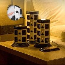 מגדל כוח רצועת אנכי רב שקע 7/11/15 שקע עם Dual USB סין 5 חורים חנויות כבל Extention LED תאורה