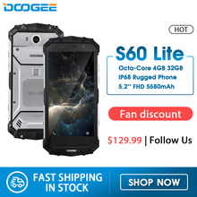 IP68 Water Doogee S60 Lite Draadloze Lading 5580 Mah 12V2A Quick Charge 5.2 ''Fhd MT6750T Octa Core 4 Gb 32 Gb Smartphone 16.0MP Cam(China)