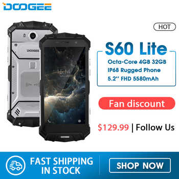 IP68 Water Doogee S60 Lite Draadloze Lading 5580 Mah 12V2A Quick Charge 5.2 ''Fhd MT6750T Octa Core 4 Gb 32 Gb Smartphone 16.0MP Cam
