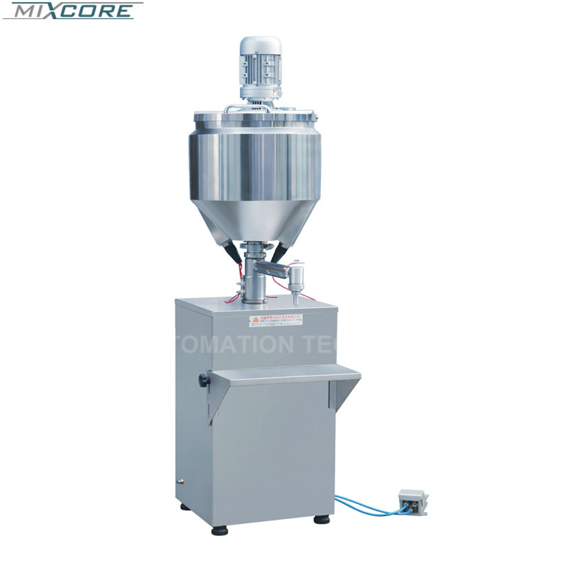 5-1000 Ml Electric Or Pneumatic Emulsion Quantitative Filling Stainless Steel Filling Machine Heatable And Mixing