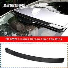 Real carbon fiber roof spoilers for f10 BMW 5 series rear wing fits 528i 535i 550i 2010-2016 original high quality M5 sedan