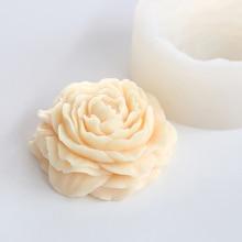 Ремесло силикона делая DIY ручной работы прочные украшения торт свеча в форме мыла Многофункциональный 3D цветок пион дома