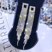 925 Silver Needle Earrings Female European and American Temperament Tassel Long Korea Fashion